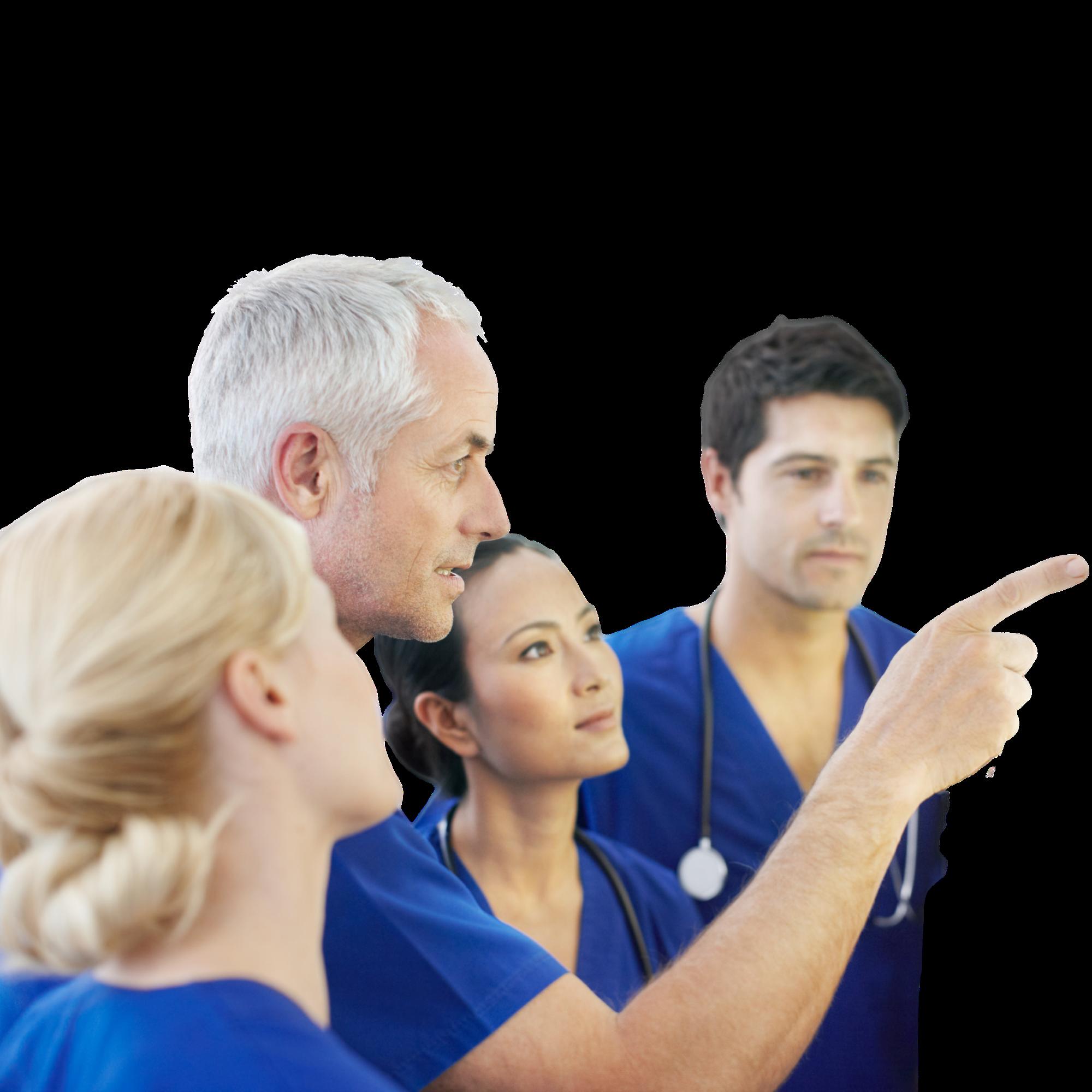 médecins blouses bleues neige arbres montagnes congrès médico-dentaires